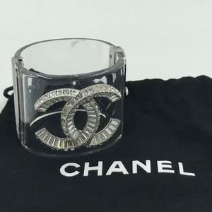 3f96ed26b21 Authentic CHANEL Crystal Baguette CC Cuff
